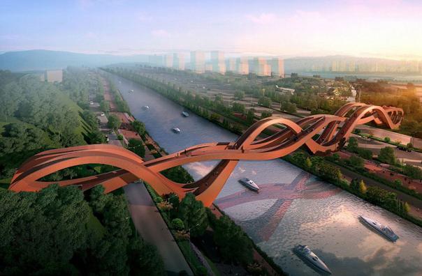 Podul rosu din China a fost inaugurat in toamna anului trecut