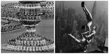 10 imagini istorice pe care nu le-ai vazut! Acrobatii fara legaturi de siguranta sau piramide umane la Jocurile Olimpice