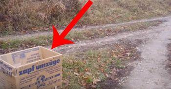 Emotionant :( Mergeau pe strada cand au vazut o cutie la marginea drumului. Au ramas socati cand s-au uitat in ea