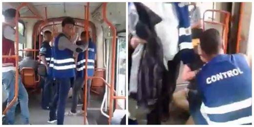 REVOLTATOR! O gasca de controlori au abuzat un tanar in tramvaiul 11 pana i-au RUPT mana VIDEO