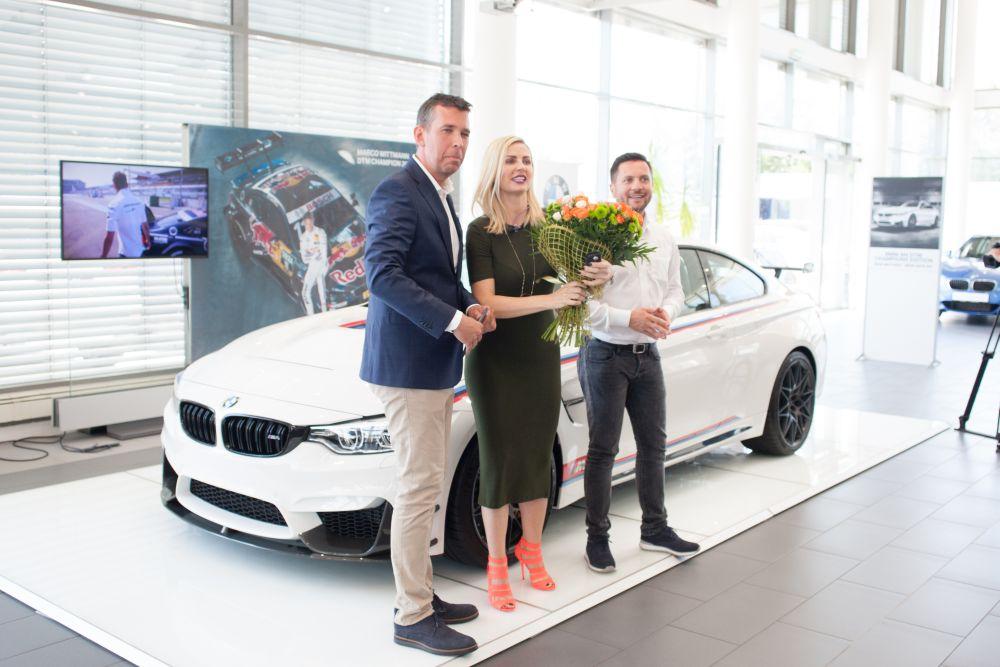 Ciprian Bercea, directorul general MHS Motors, alaturi de Andreea Banica
