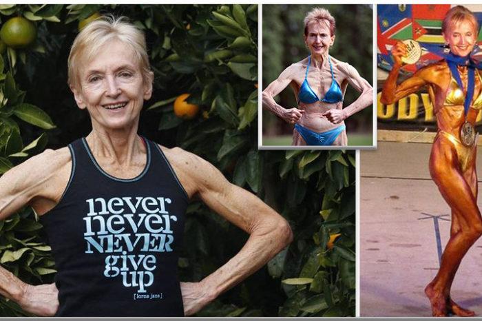 Bunica bodybuilder de 74 de ani! Participa la competitii si face 60 flotari pe zi si alearga 32 de km VIDEO