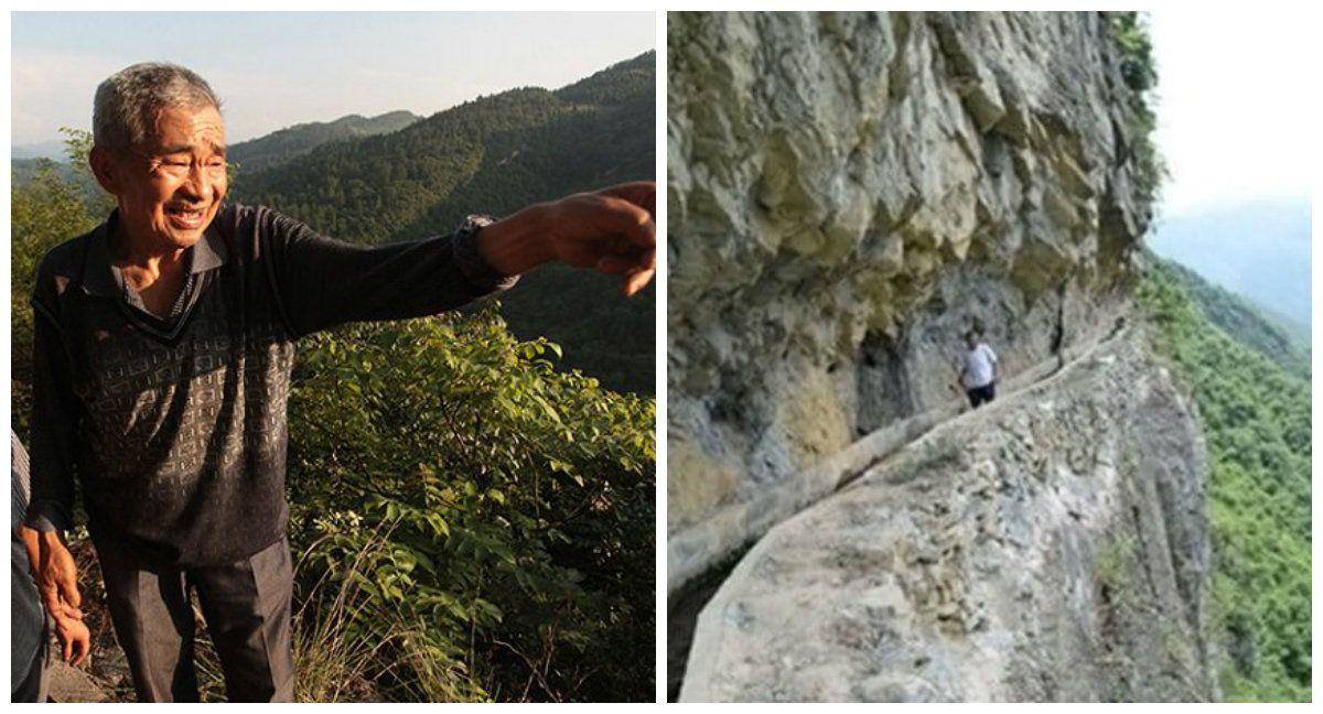 Povestea uluitoare a barbatului care si-a petrecut 36 de ani din viata sapand un canal in munte! Ideea ingenioasa pe care a avut-o a salvat mii de vieti