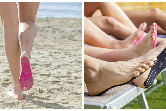 Talpile adezive pe care trebuie sa le porti vara asta! Iti protejeaza picioarele de nisipul fierbinte sau pietrele de pe asfalt VIDEO