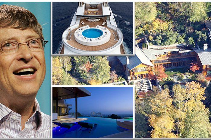 Cum arată casa de 120 milioane $ a lui Bill Gates! Are avion, colectie de masini si plaja privata