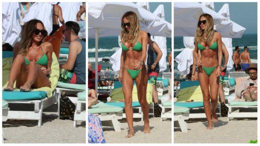 Ce norocos e Alin Cocos! Monica Orlanda a incins plaja cu formele sale. Cat de sexy poate fi! Blondina a captat toate privirile cu funduletul asta