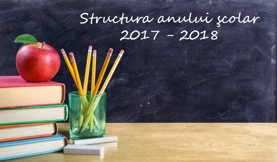 Structura an scolar 2017-2018