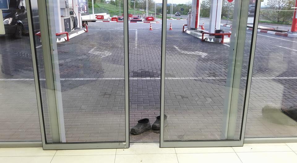 Batranica si-a lasat papucii la usa unei benzinarii
