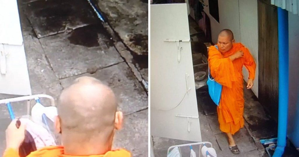 Calugarul budist face un gest socant cand vede lenjerie intima de femei
