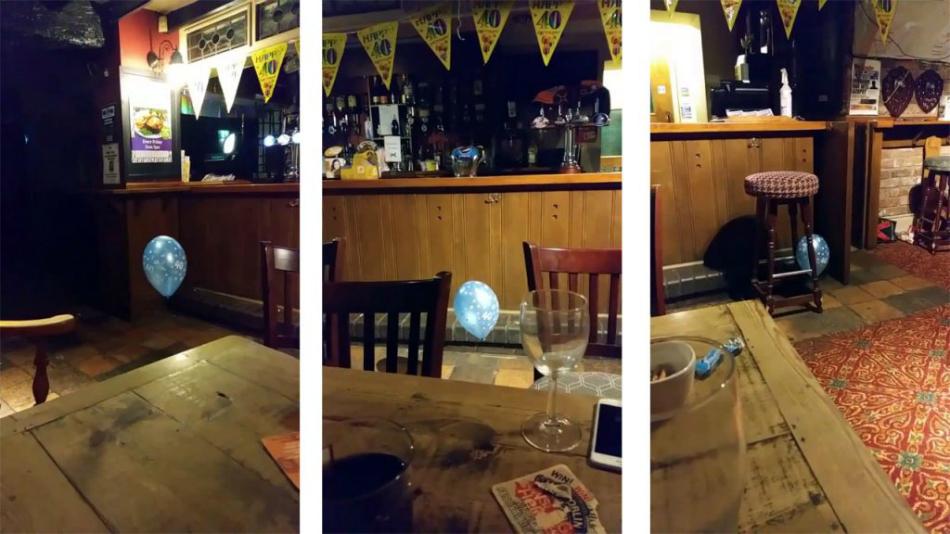 Statea linistita la o masa din bar cand a simtit ceva straniu si a inghetat de spaima