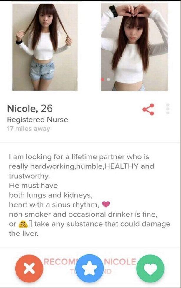 Cel mai dubios profil de Tinder este al ei!