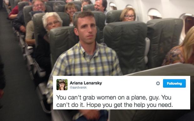 Bărbat, reţinut după ce a pipăit o femeie în avion