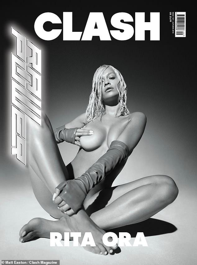 Rita Ora, goala pe coverta unei reviste