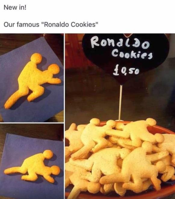 S-au inventat biscuitii Cristiano Ronaldo sub forma unui cuplu facand sex