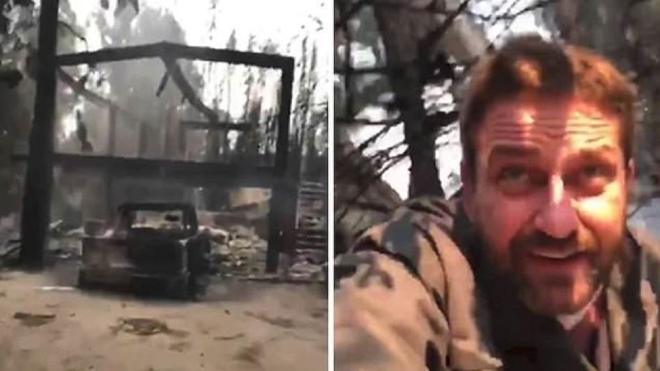 Casa lui Gerard Butler a fost distrusa de un incendiu violent