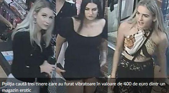 Tinere sexy, cautate de politie dupa ce au furat vibratoare