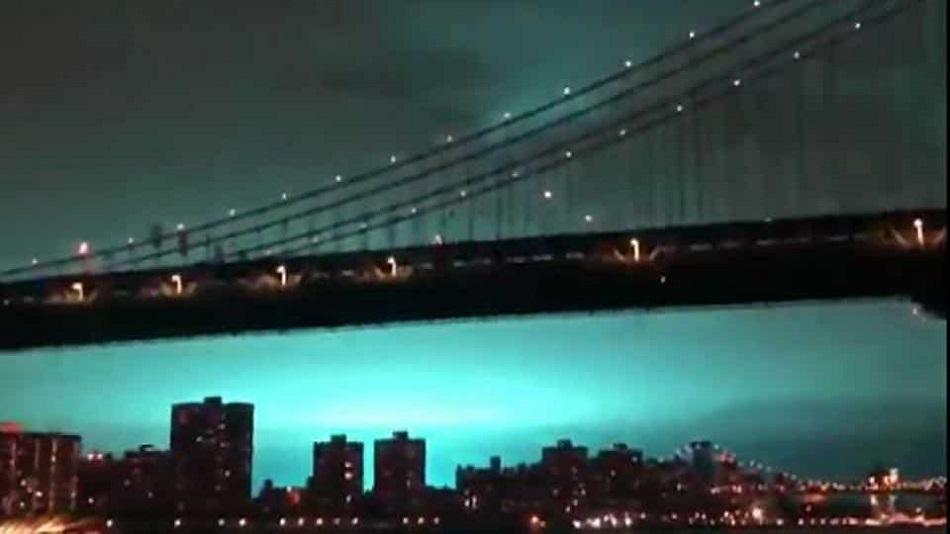 Fenomen straniu pe cerul din New York
