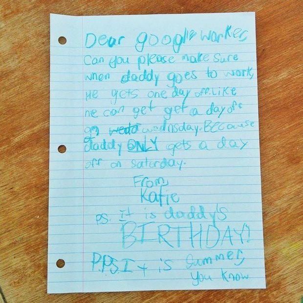 Scrisoare catre Google din partea unei fetite