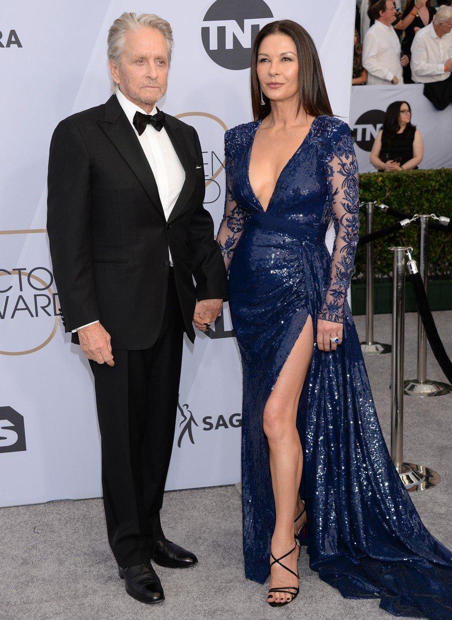 cupluri premiile sag 2019 Catherine Zeta-Jones si Michael Douglas