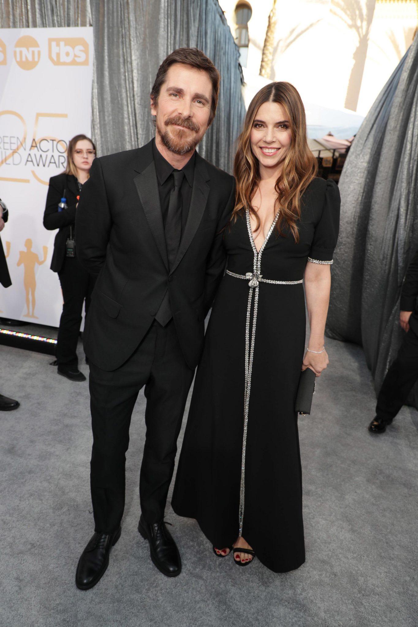 cupluri premiile sag 2019 Christian Bale si Sibi Blazic