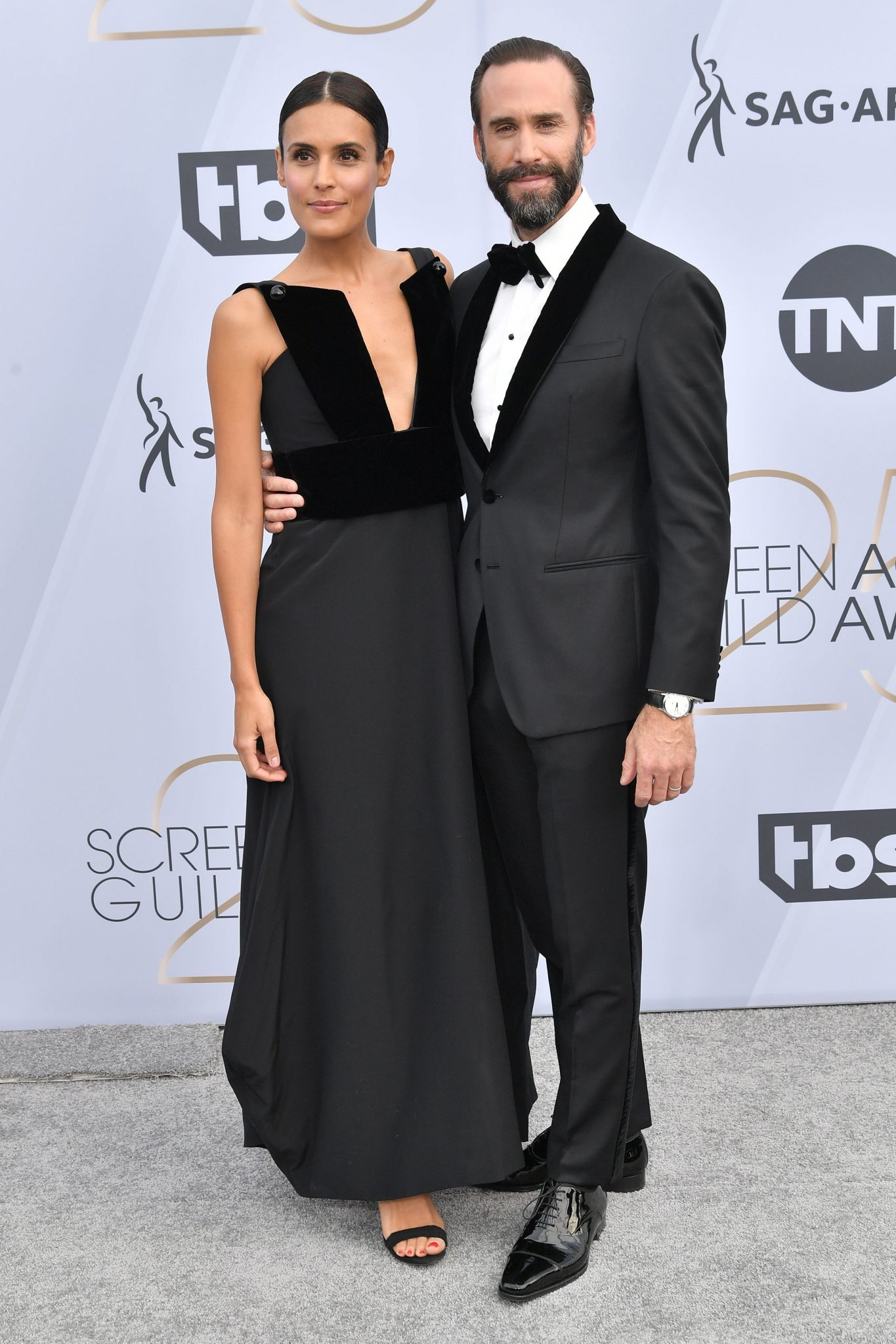cupluri premiile sag 2019 Joseph Fiennes si Maria Dolores Dieguez
