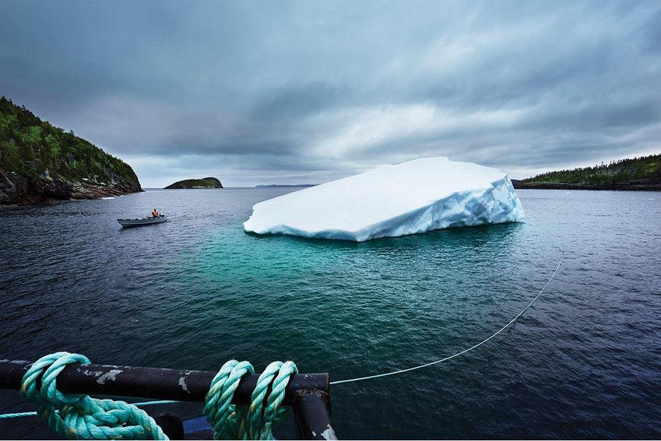 Apa dintr-un aisberg a disparut in mod misterios, peste noapte