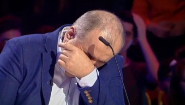 Florin Calinescu a izbucnit in lacrimi la Romanii au Talent