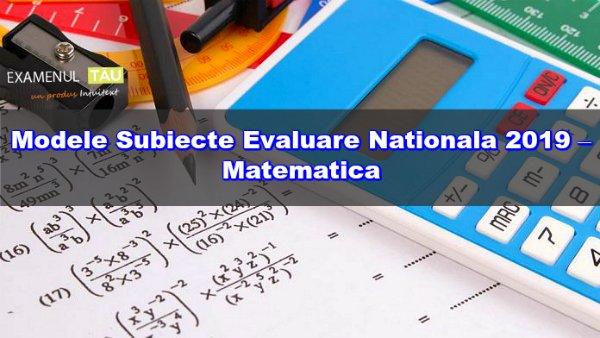 Simulare Evaluarea Nationala 2019. Modele de subiecte la toate materiile de examen
