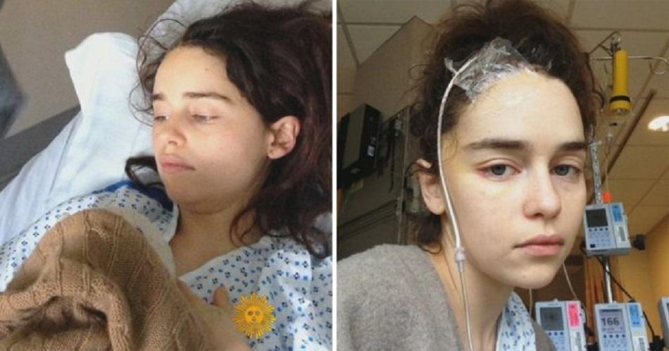 Primele poze cu Emilia Clarkle in spital. Actrita e conectata la aparate