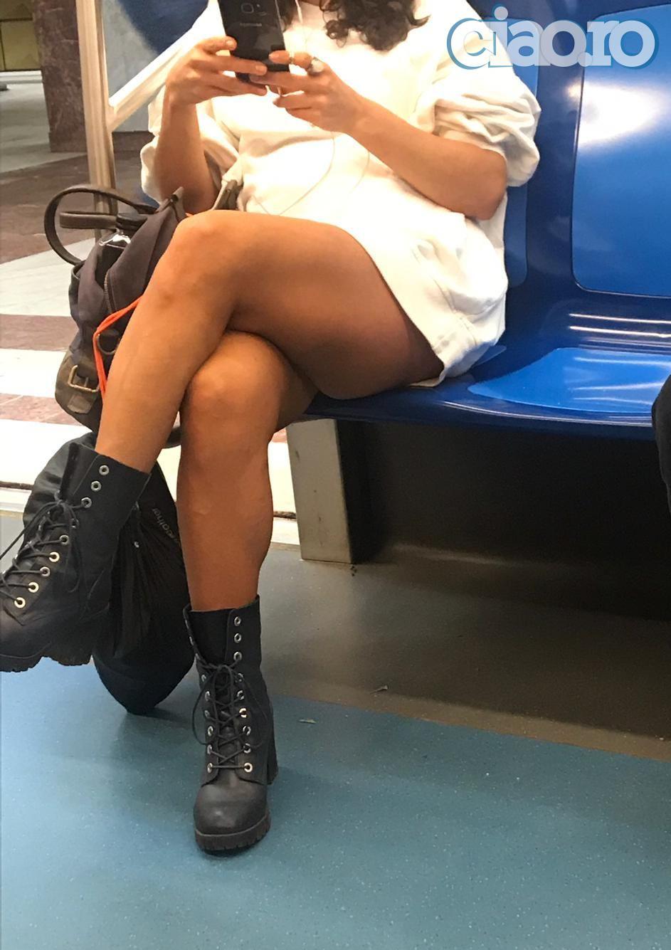 Fosta sotie a lui Madalin Ionescu, porno la metrou!