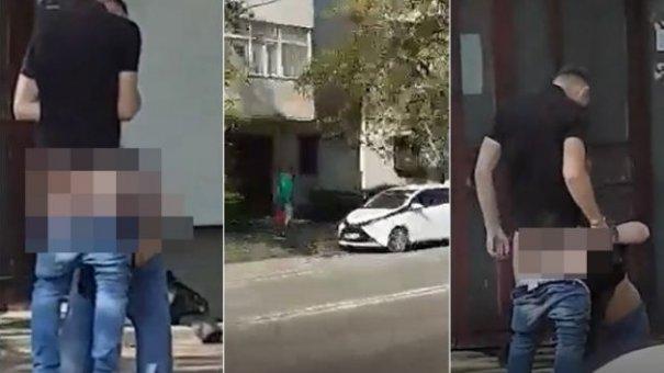 Sex pe strazile din Iasi! Doi tineri au fost surprinsi in ipostaze intime. FOTO 18+! Ce s-a intamplat cand a venit politia