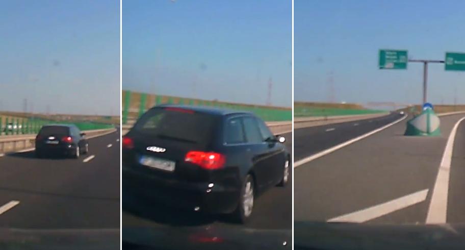 Un sofer, la un pas de moarte pe autostrada