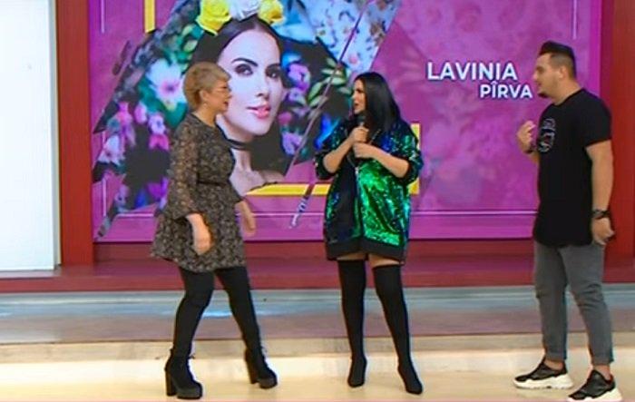 Lavinia Pirva a aparut pentru prima oara la TV dupa ce a nascut