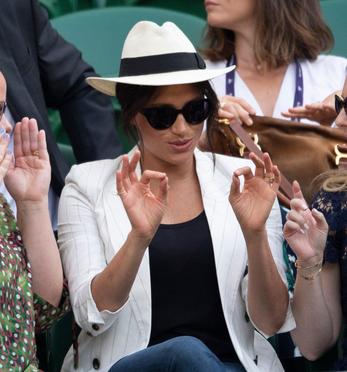 Meghan Markle, cu aere de vedeta la Wimbledon