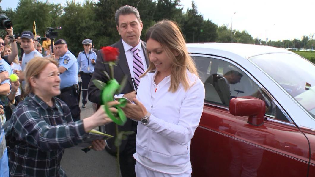 Simona Halep a fost ceruta de sotie! Imagini superbe de la cererea ei VIDEO