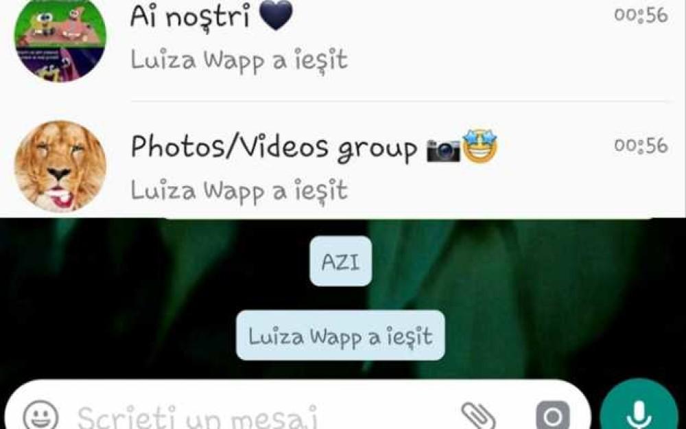 Luiza Melencu activa in WhatsApp