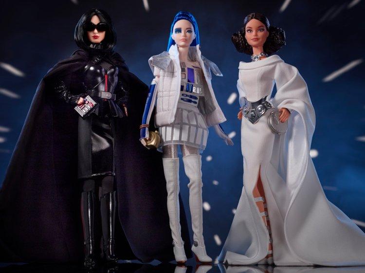 O serie de păpuși Barbie dedicată eroilor Star Wars