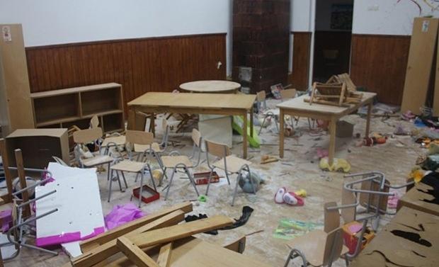 Școală din Giurgiu distrusă