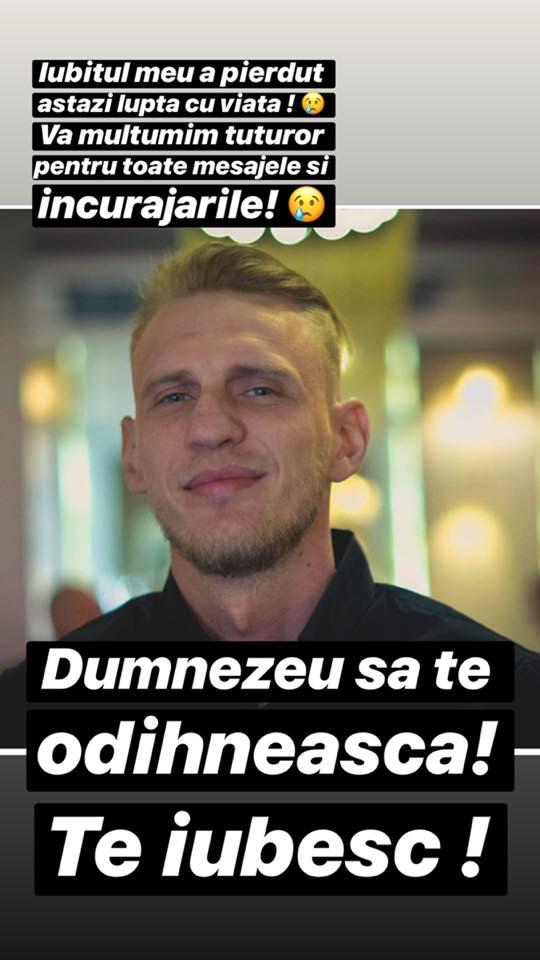 Iubitul Oanei Radu a murit