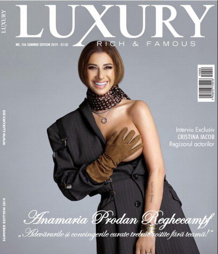 Anamaria Prodan goală pe coperta unei reviste
