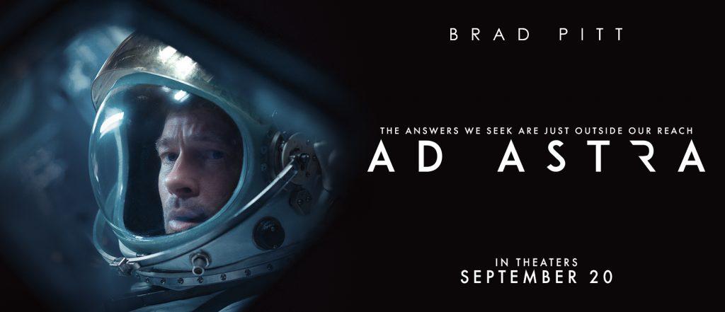 FFilme noi 16-22 septembrie 2019. Foto Ad Astra cu Brad Pitt