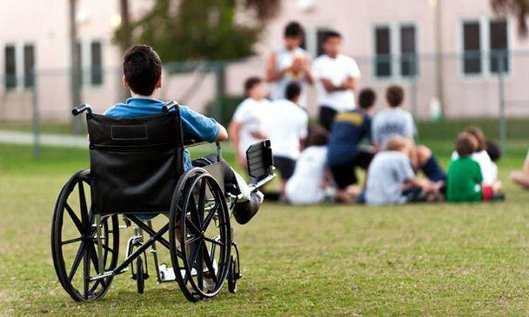 Teren de sport pentru copiii cu dizabilități