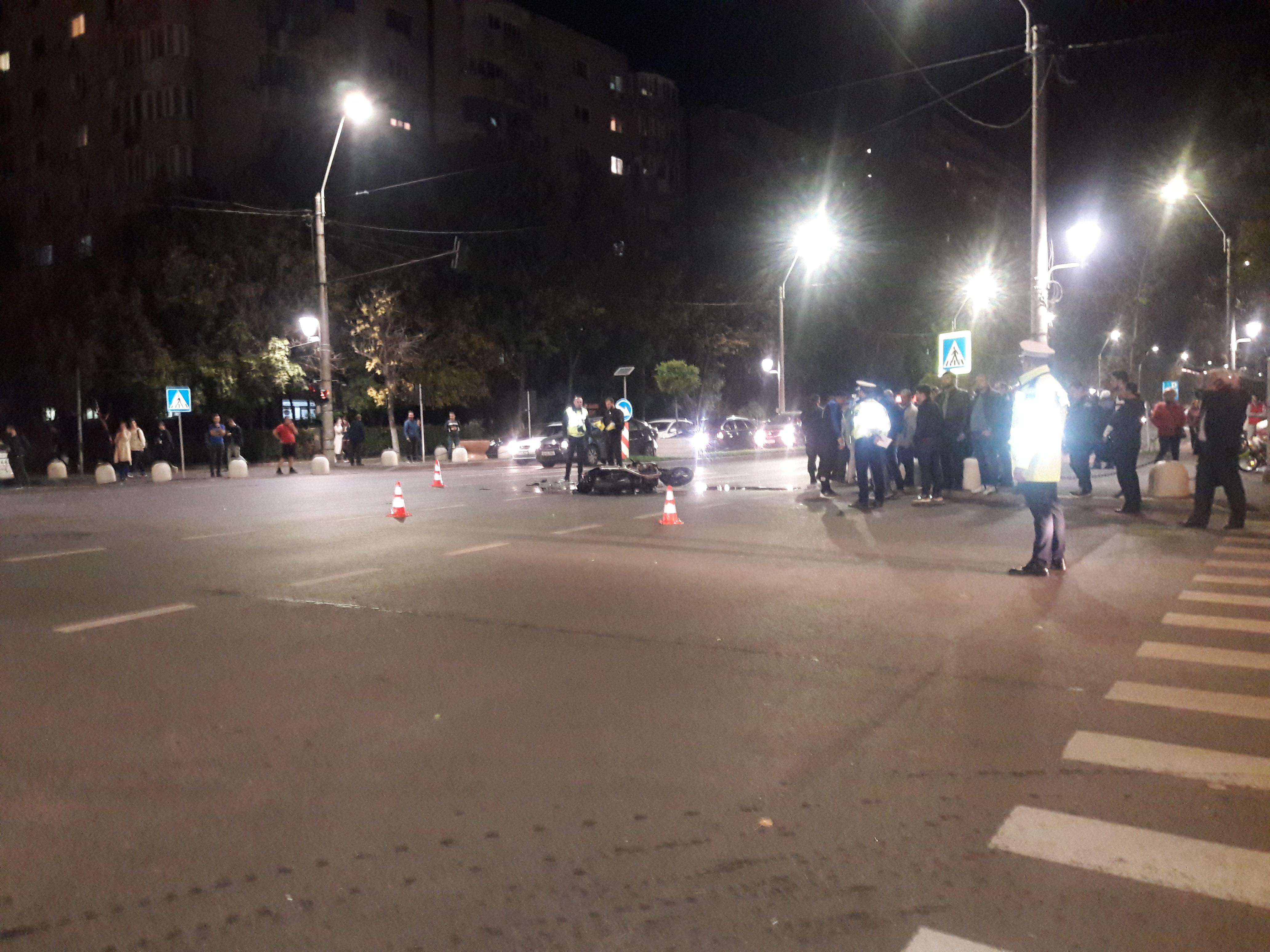 Accident teribil pe bulevardul Constantin Brancoveanu